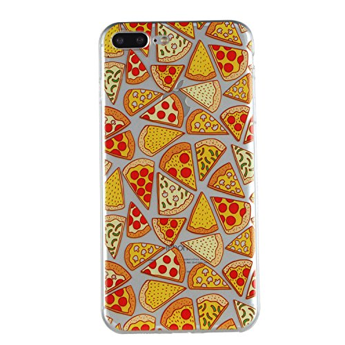 iPhone 7 Plus Coque, Voguecase TPU avec Absorption de Choc, Etui Silicone Souple Transparent, Légère / Ajustement Parfait Coque Shell Housse Cover pour Apple iPhone 7 Plus 5.5 (Licorne 03)+ Gratuit st Pizza
