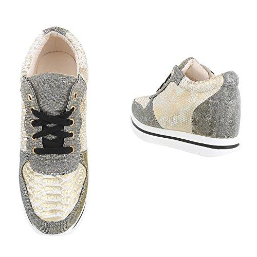 ... Keilabsatz design Gold Schn Sneakers wedge Ital top Freizeitschuhe  Beige Damenschuhe Sneaker Low rsenkel dXnB7UBwSq 900e1505af