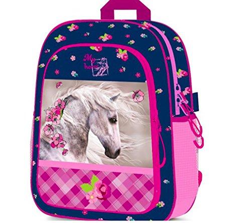PFERD Pony EINHORN Rucksack inkl. Sticker von Kids4shop TASCHE Kindergarten