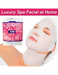 Face And Neck Collagen Face Masks-Anti Ageing Sheet Mask And Intensive Vitamin Serum-Reduce Lines And Wrinkles-Best Value Spa Facial At Home-Cleanse