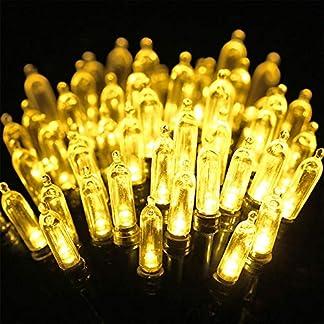 Qedertek Luces de Navidad, Cadena de Luces Pilas, Guirnalda Luces Exterior 10M 100 LED, Mini Lampara para Decoracion Navidad, Luces Blanco Calido de Arbol de Navidad, Patios, Jardines, Café
