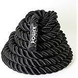 Corda da allenamento ★ Fune da combattimento ideale per il potenziamento muscolare e per gli esercizi di CrossFit ★ Battle Rope