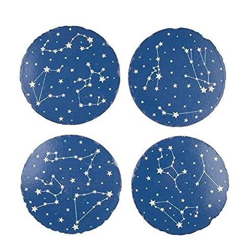 Set of 4 Star Constellations Coasters Cute Wedding Star Signs Zodiac Gift