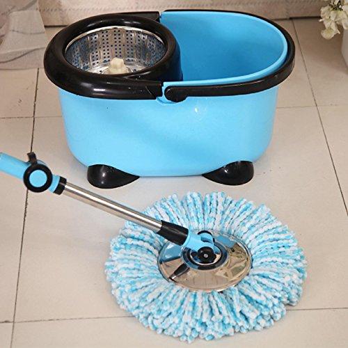 GAOJIAN 360 Grad Rotierende Mikrofaser Tuch Ersatz Mops Kopf Küche Badezimmer Super-absorbierende saubere Mop Kopf ersetzen Tuch