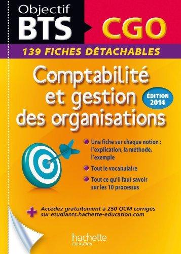 Fiches détachables BTS Comptabilité et Gestion des Organisations by Patricia Charpentier (2014-01-29)