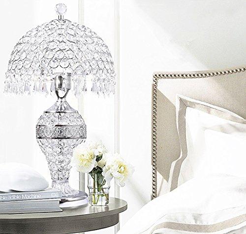 Cristal Lampes De Bureau Moderne Nuit Lumière Chambre Chevet Lampe Creative Led Lampe De Table Intérieur Lampe De Table (Color : Silver)