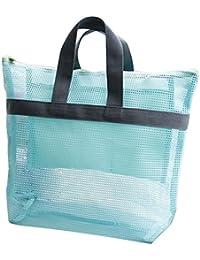 Leisial Portátil Bolsa de Playa Malla para Guardar Juguetes Cosméticos Traje de Baño Necesidades Diarias Toallas para Playa Vacaciones de Infantiles