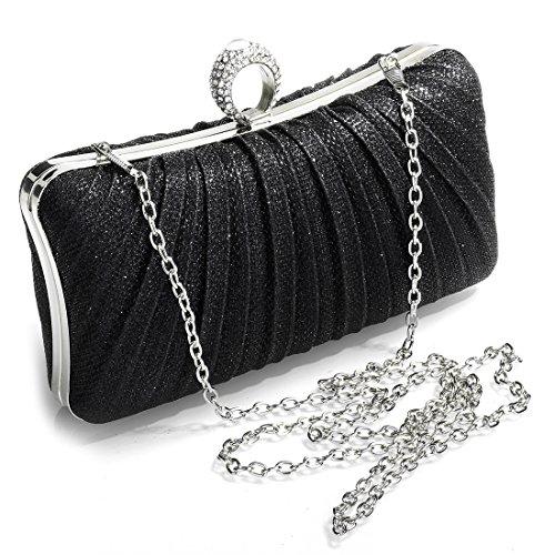 YYW Evening Bag, Poschette giorno donna Black