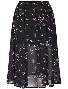 QPSSP-nieve vestido tejido falda de cintura alta Sello una palabra falda falda Mujer Torso