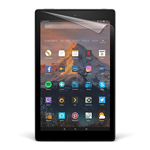 NuPro-Displayschutzfolien (2er-Pack) für Fire HD 10 (10-Zoll-Tablet, 7. Generation - 2017 Modell), transparent