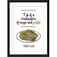 Federico Fellini - Life is a Combination of Magic and Pasta Unframed Print