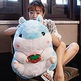 hokkk Süße fette Hamster große 56cm Plüsch Puppe Puppe Plüschtier Kissen Schlaf Puppe lustige weibliche Geburtstagsgeschenk blau Erdbeere nehmen 56 cm