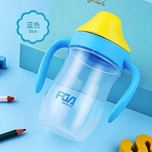 Sicherheits-spritzflaschen (Wasser Flasche Kinder Kids Slip mit Lippe Cute Sicherheit Umweltfreundlich PP Kunststoff My Wasser Flasche BLAU direkt Trinken Handgriff, 320ml,Blue)
