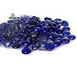 ARSUK Kiesel, gerundete Dekorsteine, für Vasen und Dekoration, Marbles, Glasmurmeln, Wohnaccessoires & Dekoartikel 200pcs (1kg) (Blau)