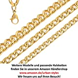 DonDon Herren Panzerketten Armband Edelstahl gold Länge 22 cm – Breite 1,1 cm - 5