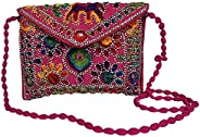 Craft Trade Embroidered Sling Bag Rajasthani Handmade Designer Purse/Crossbody Bag for Women & G