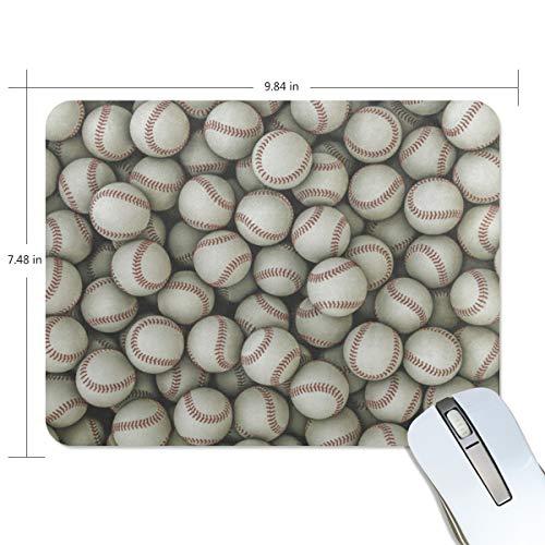 FAJRO Home Run Baseball-Mauspad mit Standard-Computer-Mauspad, Schreibtisch-Mauspad, Gamingmatte, rutschfeste Gummiunterseite, Jersey-Oberfläche für Büro, Zuhause