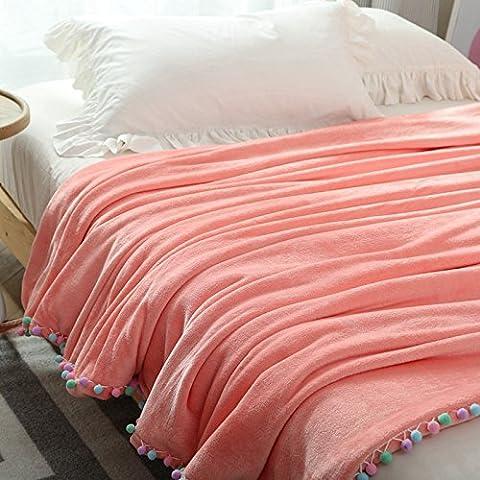 BDUK Invierno frazada gruesa manta coral bola coreana single doble franela mantas cubierta caliente