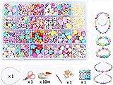 24 branelli del branello di bigiotteria DIY Perline, fai da te  di arte dei bambini e fabbricazione di monili, stringa del branello che fanno insieme, Gioielli Collana Bracciali Giocattoli (color 6#)