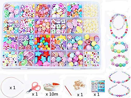 24 Types Art Loisirs Créatif Perle Lu0027atelier De Bijoux Fabrication De  Bracelet DIY