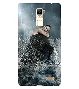ColourCraft Girl in Rain Design Back Case Cover for OPPO R7