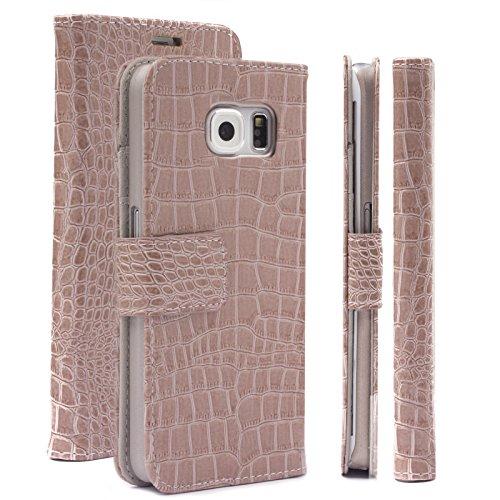 Samsung S6 EDGE Custodia   Caiman champagne   iCues Maraba Borsa   più fintapelle e (Fibbia Combo)