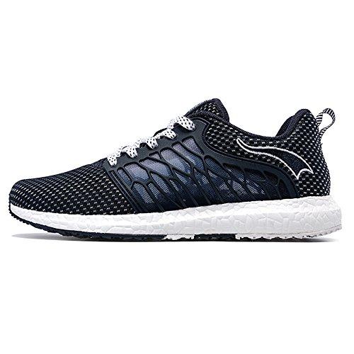 Onemix Uomini Tuta Palestra scarpe da corsa Fitness Trainer Light Blu scuro / bianco