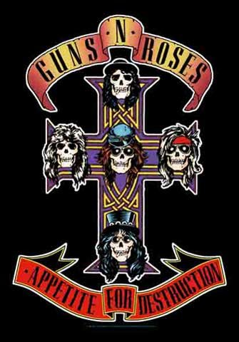 Guns N Roses - Cross - Poster Interactive - Drapeau 100% Polyester - 75 x 110 cm