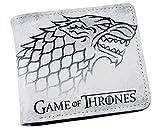 Cartera Billetera de Game of Thrones Casa Stark Blanca Negra