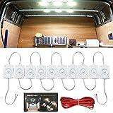 AMBOTHER Auto Innenbeleuchtung 10/30 LED Leseleuchte Interior Licht Arbeitslicht Weiß 12V (10 LED)
