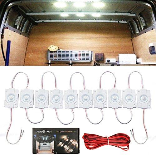 AMBOTHER de2hits13350 10 x LED Innenbeleuchtung Leseleuchte Interior Licht (Lkw-innenraum-licht-kit)