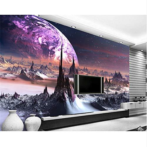 Yirenfeng 3D Custom Fototapete 3D Sterne Hotels Decke Wohnzimmer Schlafzimmer Decke Helle Wandbild Wandpapier200X100CM