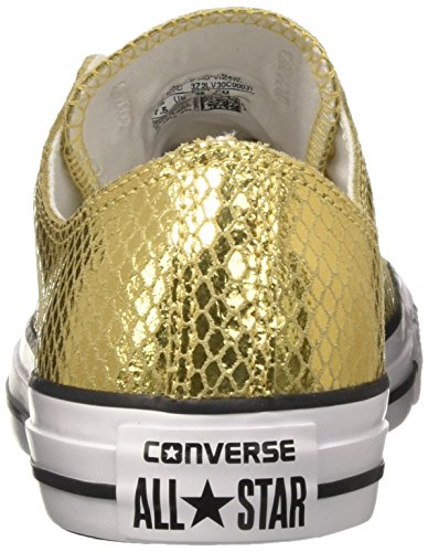 Converse Ctas Ox, Sneakers Femme Or (Gold/black/white)