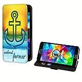 deinPhone Samsung Galaxy S5 Kunstleder Flip Case Anker Meer