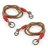 2Pcs Cuerdas para Columpio Hamaca Ajustable 1.8M Cuerdas Fuertes - Accesorio para Columpio