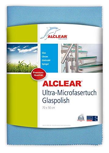 ALCLEAR Ultra-Microfasertuch Glaspolish 70 x 50 cm Scheibentuch und Gläserpoliertuch, blau - Meinem Auf Fernseher Internet