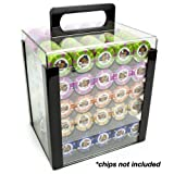 Brybelly Acryl Poker Chip Carrier (1000-count) mit Chip Tabletts