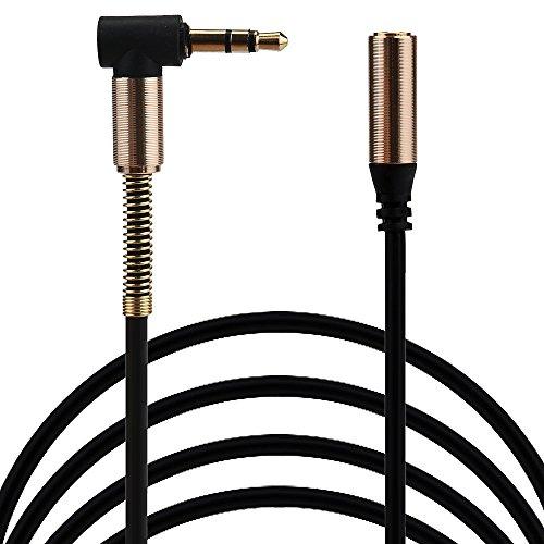 hahuha  3,5 mm Klinke Ellenbogen Stecker auf Stecker Stereo Kopfhörer Auto Aux Audio Verlängerungskabel (Rosa Ipod-lautsprecher-dock)