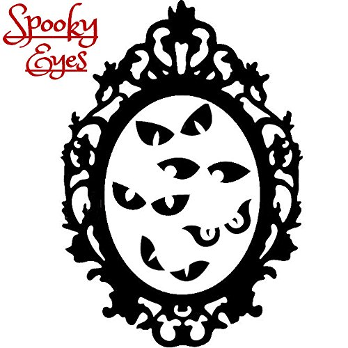 oky Eyes Augen Silhouette Sticker Aufkleber Wall Window Home Vinyl Abziehbild Decal ()