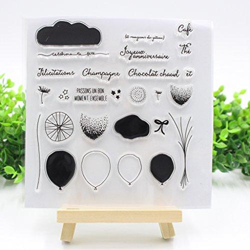 Qiman Ballon Klar Transparent DIY Silikon Stempel Blatt Scrapbooking DIY Handwerk
