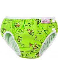 ImseVimse Schwimmwindel Aquawindel Babybadehose Green Fish / Grüne Fische Größe SL (super large) 13-17 kg