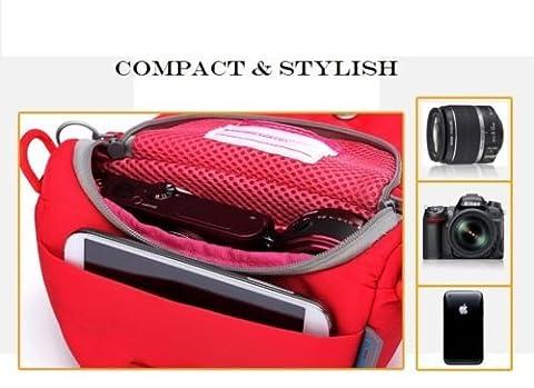 amazingk rot gepolstert KOMPAKT DIGITAL KAMERA TASCHE BEUTEL & Reisetasche mit Reißverschluss Zubehörfach