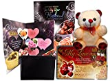 birthday gifts for husband - Jumbo Birthday Greeting Card, Men's Wallet, Love Quatation With Cute Soft Teddy (Beige)