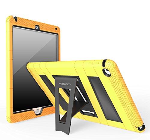 MoKo Case per Apple iPad Air 2 - Custodia Protettiva in silicone ibrido resistente + Nero policarbonato rigido con supporto per Bambini per Apple iPad Air 2 9.7 Inch iOS 8 Tablet, GIALLO