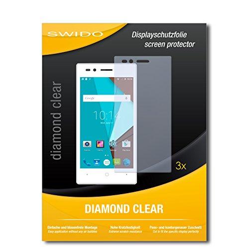 SWIDO 3 x Schutzfolie Siswoo A4+ Bildschirmschutz Folie DiamondClear unsichtbar