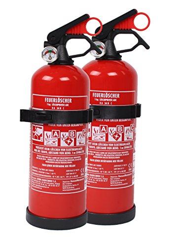feuerloescher spray 2 x Feuerlöscher Autofeuerlöscher ABC 1kg mit Halterung fabrikfrisch