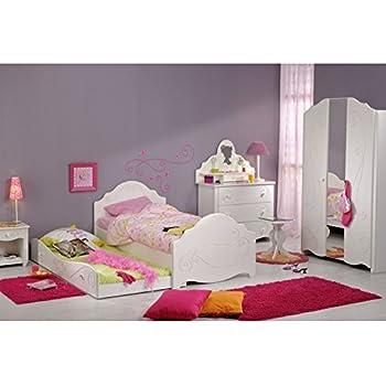 Tousmesmeubles Chambre Enfant Complète (90 * 190) Blanc ...
