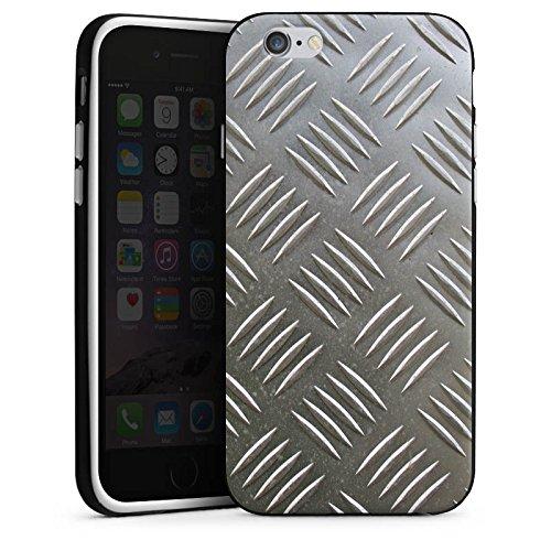Apple iPhone 5s Housse Étui Protection Coque Protection en tôle Acier Motif Housse en silicone noir / blanc