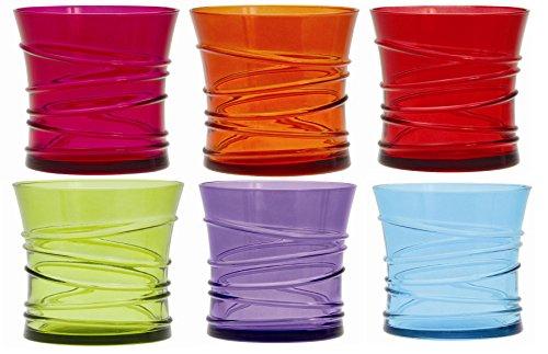 Quid 7069158 - Juego de 6 vasos bajos (cristal, 32 cl), diseño de ani
