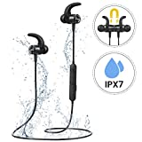 Bluetooth Headphones Running, Mpow S10 IPX7 Waterproof Wireless Magnetic Sports Earphones with HD Stereo Sound CVC6.0 Noise Cancelling Mic Headphones for Sports, Gym, Travel for iPhone Android